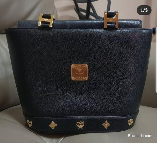 Authentic MCM Leather Gold Hardware