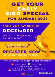 Early Bird December Promotion for Tuition Year 202