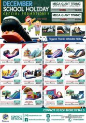 DECEMBER SCHOOL HOLIDAY SPECIAL PROMOTION