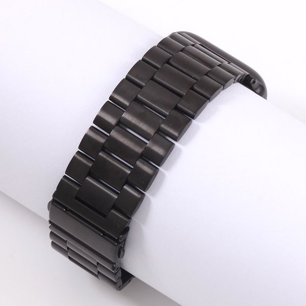 [AW CLASSIC STAINLESS STEEL STRAP – Black]