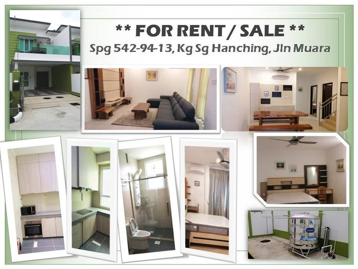 Double-storey terrace house for Rent or Sale