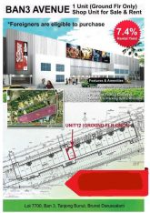 1 unit ( Ground Floor Only) Shop for sale & rent