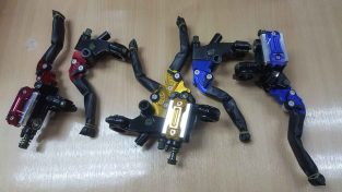 Motorcycle brake pump and clutch lever