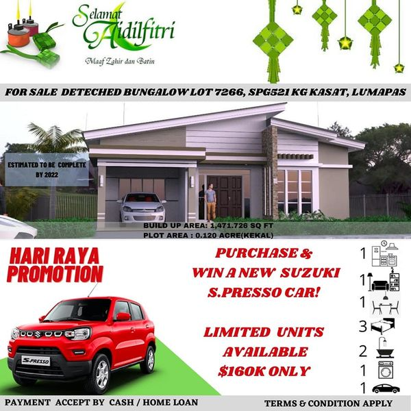 FOR SALE PROPOSED BANGLOW DI KG KASAT