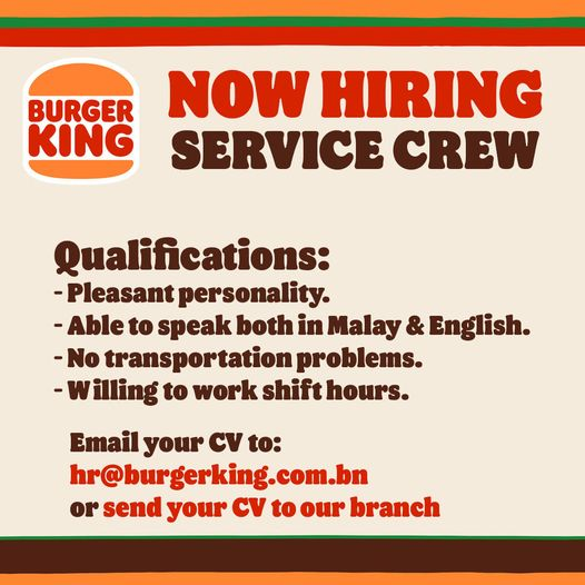 We are looking for new crew to work