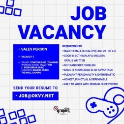 Applying for Sales Person