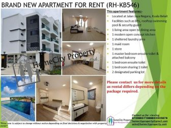 Brand new 3 bedrooms modern concept apartment in