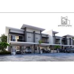 Double Storey Terrace House at Dadap