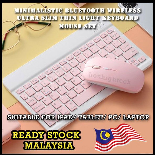 Bluetooth Wireless Slim Ultra Keyboard With Mouse Set