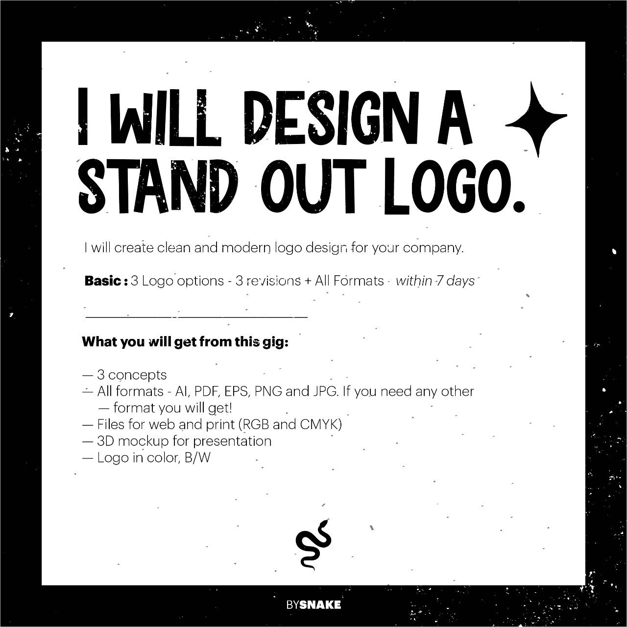 I'll create professional logo for your business