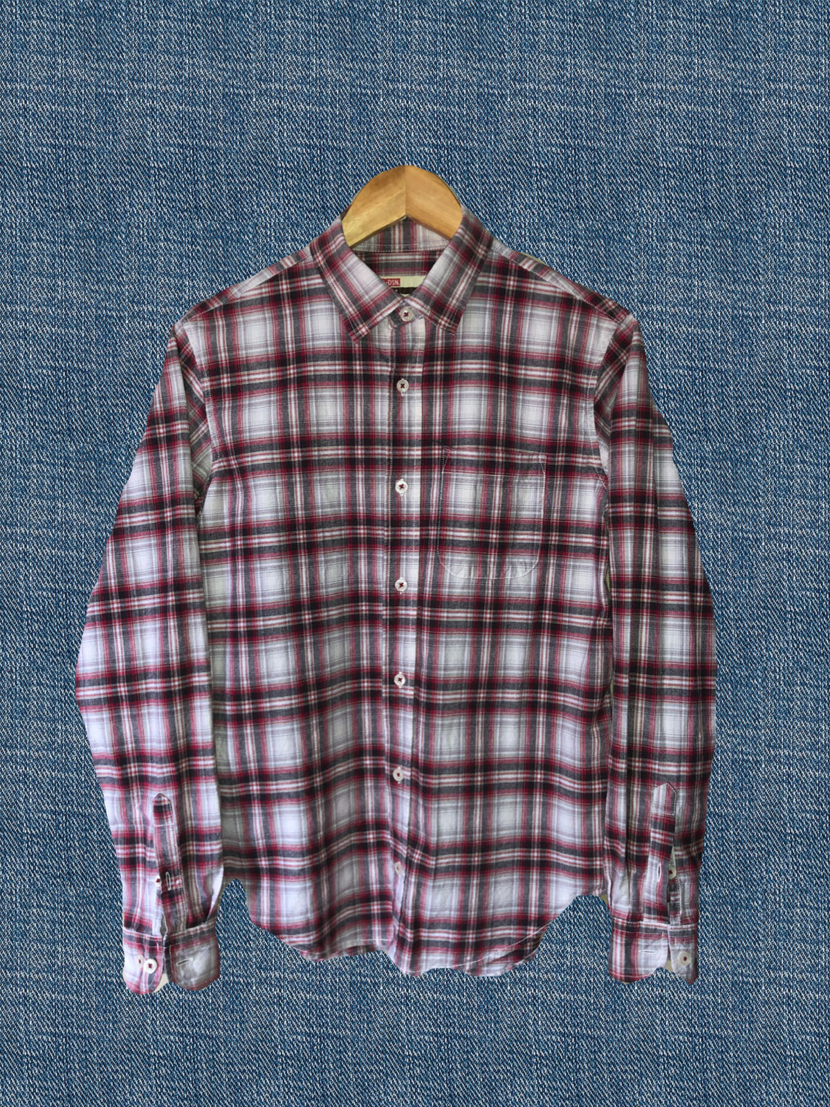 Thrift – Japanese Flannel (Red/White)